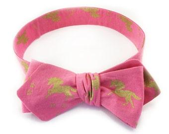 Pink Phantasy Diamond Point Bow Tie