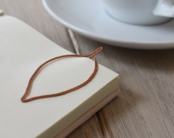Copper Leaf Bookmark   Copper Page Marker   Botanical Bookmark   Teacher Gift   Booklover   Bookworm
