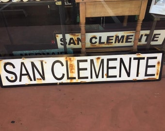 5' San Clemente Train stop style sign