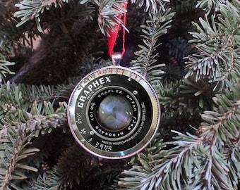 Camera Lens Ornament - Camera Ornament - Vintage Camera Lens Ornament