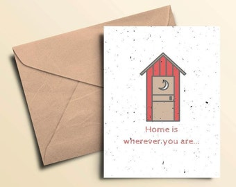 Home Is Wherever You Are Note Cards - Box of 10 With Envelopes