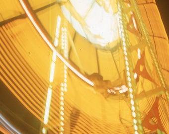 Vintage Color Transparent Photo Abstract Carnival Ride Light Blurry Light