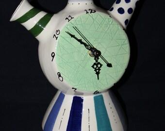 Multi coloured mantle clock