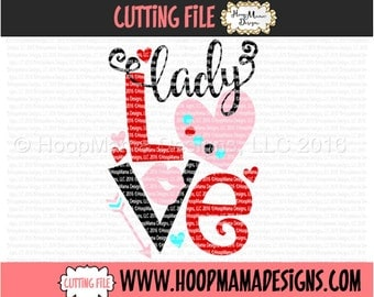 Lady Love SVG DXF eps and png Files for Cutting Machines Cameo or Cricut - Valentines Day