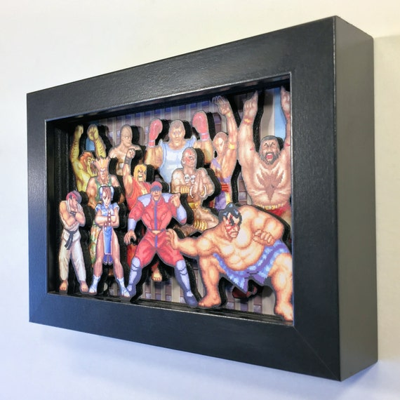 Street Fighter II 3D Shadow Box 4x6 Street Fighter II