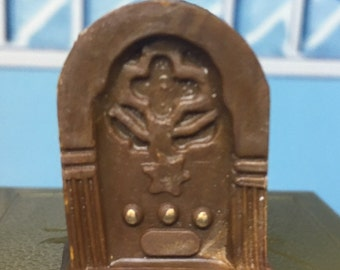 Miniature Antique Radio Vintage Concord Dollhouse Furniture Accessory 1:16 plastic
