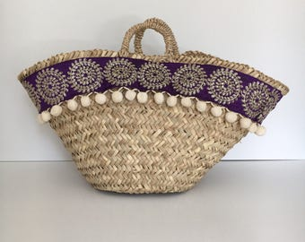 rustic carrycot / rustic basket / carrycot craft /