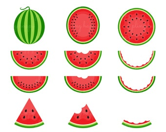 70% OFF Watermelon Cliparts, Watermelon Clipart Graphics, Personal & Small Commercial Use, Instant Download