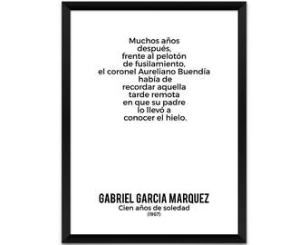 One Hundred Years of Solitude, Spanish Version Poster, Gabriel Garcia Marquez Poster, Book Poster, Literature Poster