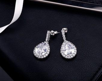 Bridal Earrings, Wedding Earrings, Wedding Jewelry, Bridal Jewelry ,Crystal Earrings, Bridesmaid Earrings, Rhinestone Earrings, Drop Earring