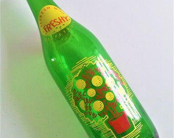 Vintage Freshy Grapefruit ~ Empty Bottle 26 oz. 1960s