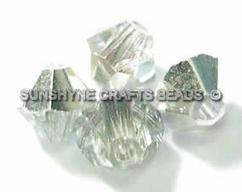 Swarovski Crystal Beads 25pcs 5301 CRYSTAL CAL 6MM Faceted Bicone Beads