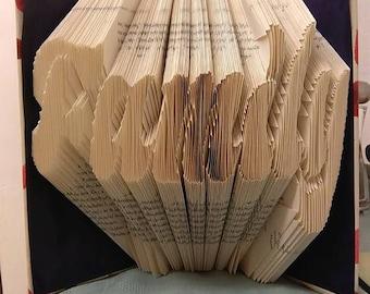 Family book folding pattern