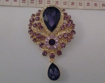 Stunning Large Purple Brooch......UK
