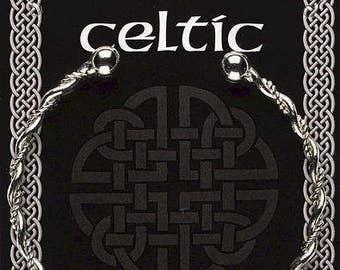 Celtic bracelet silver plate