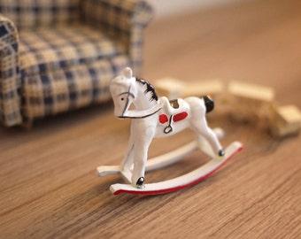 Dollhouse miniature rocking horse, Tiny rocking horse, Mini rocking horse, Miniature rocking horse, Dollhouse rocking horse