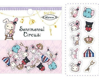 Sentimental Circus, Kutusita Nyanko, Japan San-X stickers nails scrapbook