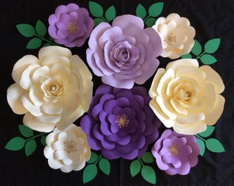Large paper flower backdrop, nursery wall hanging, cake table backdrop, photo prop, store display, wedding flowers, event flowers