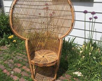 Rattan Chair Etsy