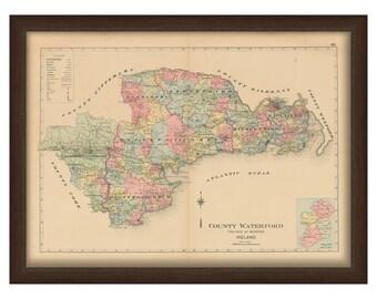 County Waterford - Memorial Atlas of Ireland 1901