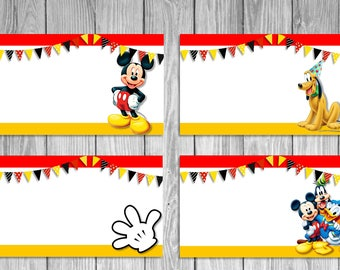 Mickey Mouse Food Tents Chalkboard / Mickey Mouse Birthday Party / Mickey Mouse Food Labels /  sc 1 st  Etsy & Mickey Mouse Clubhouse Food Tents Chalkboard // Mickey Mouse