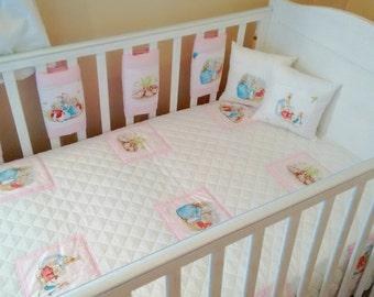 Baby girls Beatrix potter bedding set