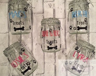 Personalised Dog Treat Jars, pets, food, snacks