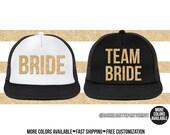 Bride, Team Bride Hat, Women's Trucker Hat, Customizable, Fast Shipping, Bachelorette, Bridal, Wedding, Fast Shipping