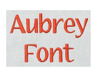 Aubrey machine embroidery font- 1 Inch Size- BX file included
