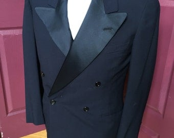 Perfect condition, double breast, navy tux jacket