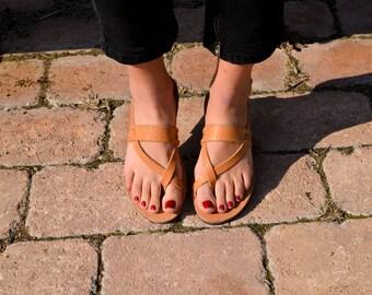 Double stripe Sandals,Handmade Leather Sandals,Black Sandals,Summer shoes