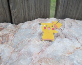 Pikachu pin, Pokemon pin, Pokemon Go, Pikachu brooch, Pikachu tie clip