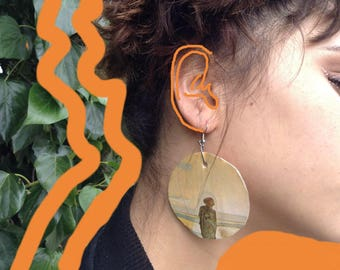 The Lone Wolf Organic Earrings