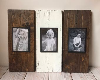 Wood Picture Frame - Picture Frame Set - Rustic Picture Frame Set - Wood Frame - Mantle Decor - Rustic Wall Decor - Rustic Wood Frame