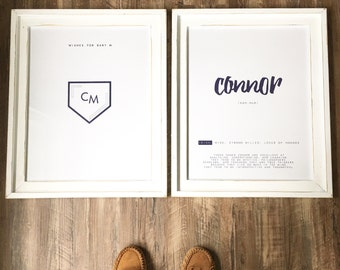 Custom Wall Art - Baby Name Meaning/Guest Book Signage