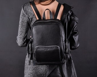 Black Leather backpack - Citizen