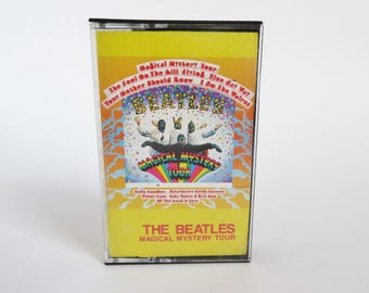 Beatles Cassette Tape, Magical Mystery Tour Cassette Tape, The Beatles, Capitol Records, Paul McCartney, John Lennon, George Harrison, Ringo