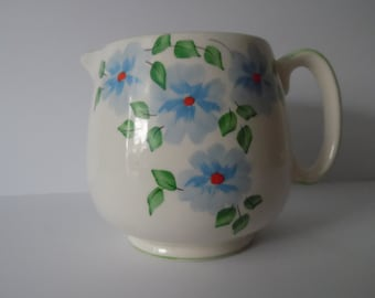 Vintage Crown Devon Milk Jug. Made in England. CreamJug. Ceramic jug. Floral Milk Jug