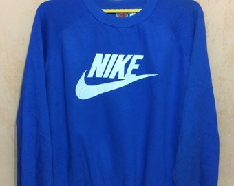 90s Vintage NIKE SWOOSH  Gray Tags Three Blend Sweatshirt Adults 2X Size Over Size Chest 28""
