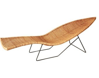 SOLD - Tropi-Cal Mid-Century Fish Chaise Lounge