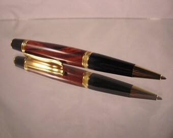 Sierra gold pen. Cocobolo wood.