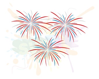 Fireworks SVG Files for Cutting 4th of July Cricut Fourth - SVG Files for Silhouette - Instant Download
