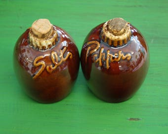 Hull USA Salt and Pepper Shakers