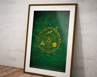 Zelda Abstract Logo Poster