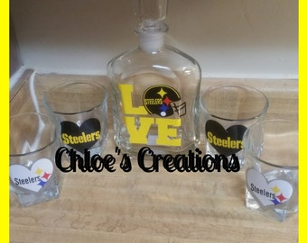 Pittsburgh Steelers  decanter set