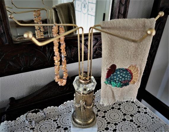 Hollywood Regency Vanity Towel Stand Jewelry Tree By Netty805