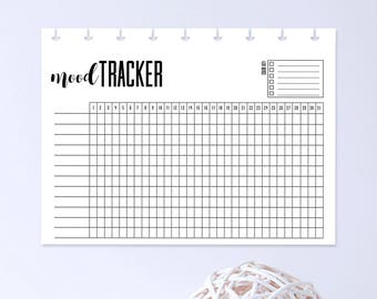 mood log template - mood chart etsy
