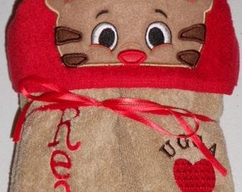 Daniel Tiger, Baby Margaret, Kids hooded towel, Daniel Tiger hooded towel, beach towel