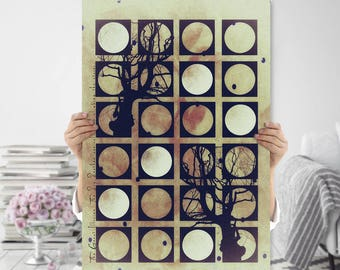 Boho Art Printable - Large Tree Art - Geometric Print - Nature Inspired - Meditation Art - Instant Download - Sacred Space - Quirky
