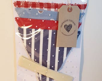 Make-your-own fabric bunting kit